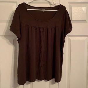 A.N.A Plus size Brown Shirt